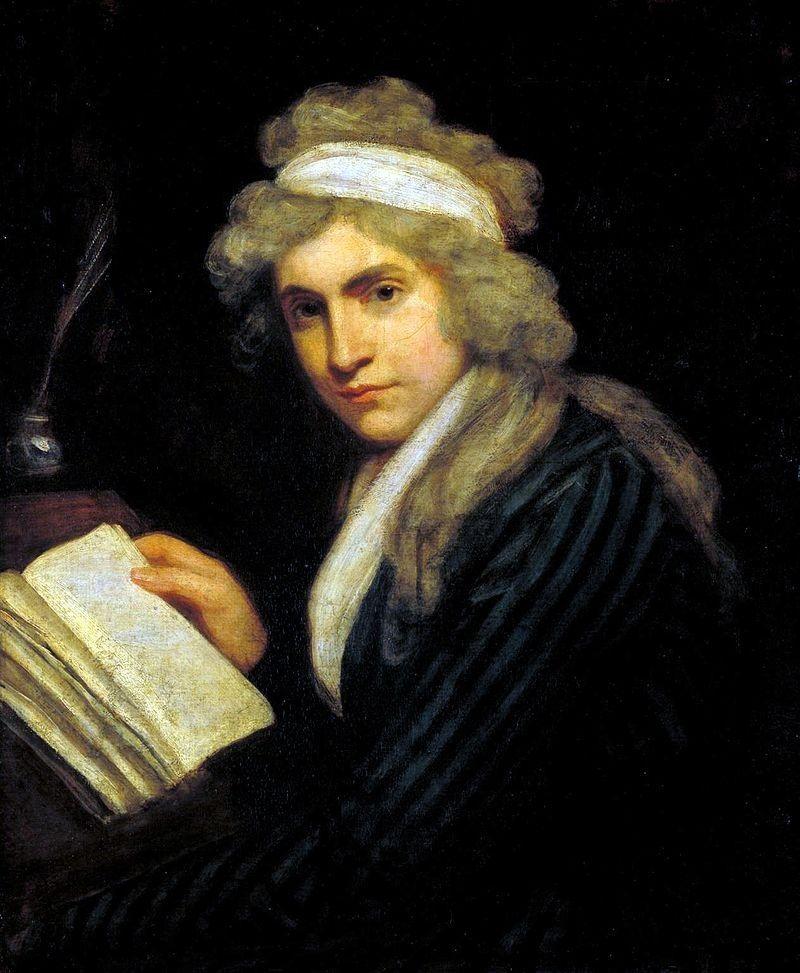 Mary Wollstonecraft na portrecie, który namalował John Opie (fot. domena publiczna)