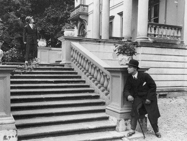 """Igo Sym (z lewej) zadebiutował w filmie """"Wampiry Warszawy"""" w 1925 roku. Do dziś nie zachowała się żadna kopia."""