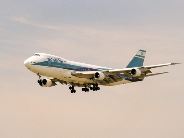 Emigranci odlatywali z Warszawy samolotami linii El Al.