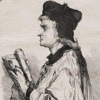 Jan Długosz według rysunku Jana Matejki.