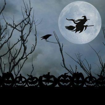 Popkulturowe wyobrażenie czarownicy lecącej na miotle (fot. domena publiczna)