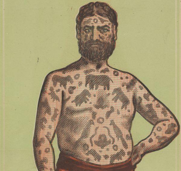 Kapitan Costentenus był sławny ze względu na swoje tatuaze.