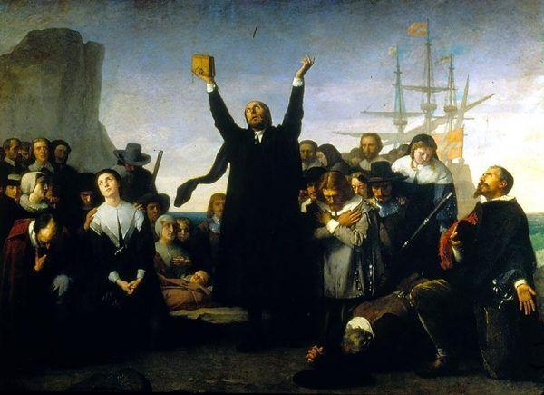 Purytanie u brzegów Ameryki (fot. domena publiczna)