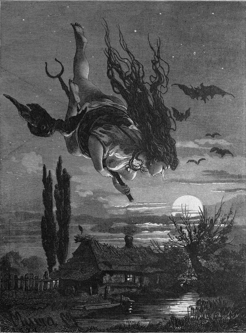 Wiedźma w XIX-wiecznej ilustracji rosyjskiej (fot. domena publiczna)