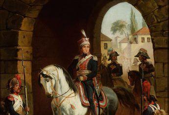 Polacy we Włoszech byli wykorzystywani do krwawego tłumienia powstań miejscowej ludności. Na ilustracji wjazd Jana Henryka Dąbrowskiego do Rzymu.