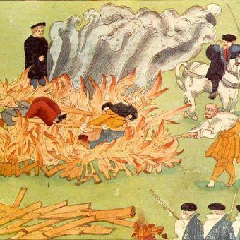 Czy w Polsce naprawdę nie płonęły stosy? Ilustracja poglądowa.