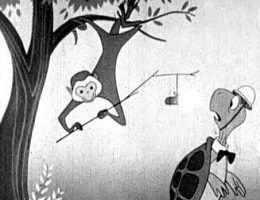 """Dla najmłodszych obywateli amerykański rząd przygotował instruktaż w formie kreskówki o sympatycznym żółwiu Bercie pod tytułem """"Duck and cover"""" (dosłownie: """"Padnij i kryj się"""")."""