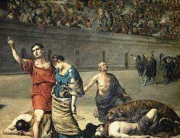 W starożytnym Rzymie prześladowania chrześcijan zmieniono w widowiska.