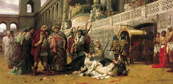 Chrześcijanka umęczona podczas prześladowań za czasów cesarza Nerona.
