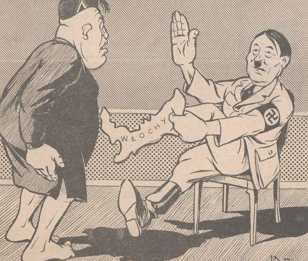 """Rysownicy """"Pokrzywy"""" za pomocą humorystycznych obrazków próbowali oswoić zło czające się za zachodnią granicą."""