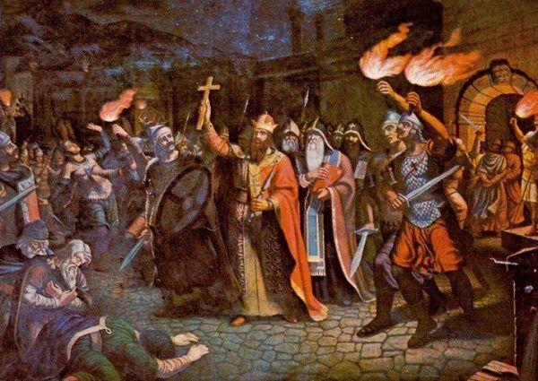 Po przyjęciu chrztu Borys musiał rozprawić się z buntownikami.