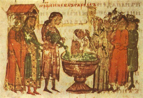 Borys długo nie chciał zdecydować się na chrzest.