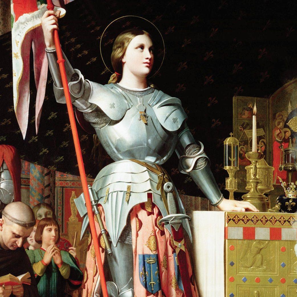 """Joanna d'Arc (na il.) w XV wieku stanęła na czele armii. Nie była jednak pierwszą kobietą, która """"wzięła sprawy w swoje ręce"""". Już we wczesnym średniowieczu panie zaznaczały swoją obecność w historii."""