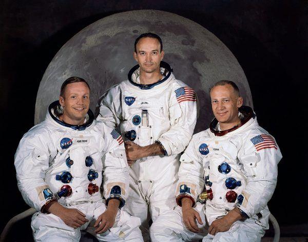 Załoga Apollo 11. Od lewej Neil Armstrong, Michael Collins, Buzz Aldrin.