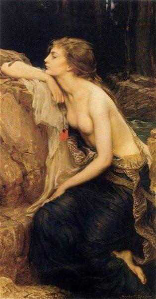 Wampiry starożytności przedstawiane były jako piękne kobiety mające wabić i zabijać swoje ofiary. Lamia (1909), Herbert James Draper