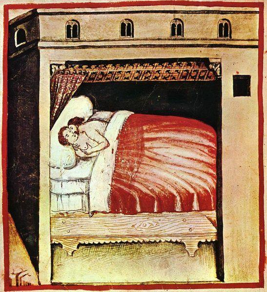 Średniowieczni kanonicy podkreślali, że mąż ma moralny i prawny obowiązek zaspokajania pragnień seksualnych swojej żony.