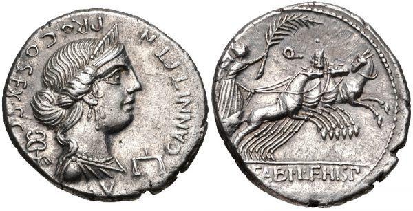 Wizerunek Anny Perenny na monecie rzymskiej