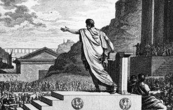 Gajusz Grakchus przemawiający do ludu rzymskiego
