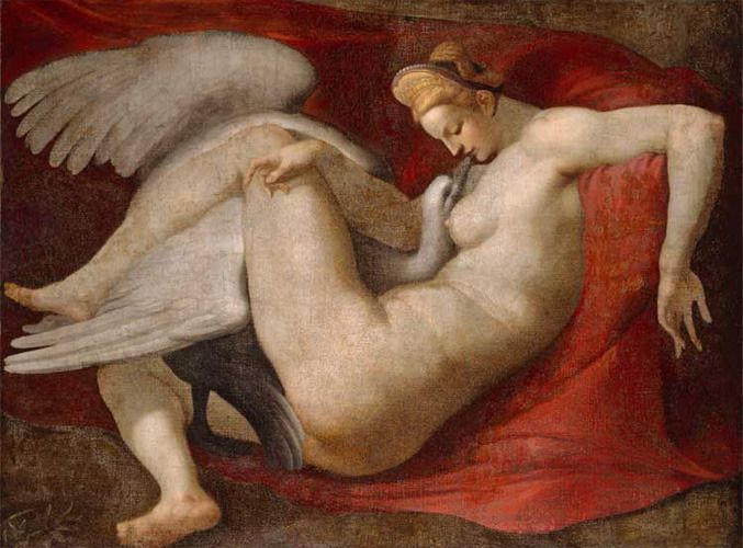 Leda i Zeus pod postacią łabędzia