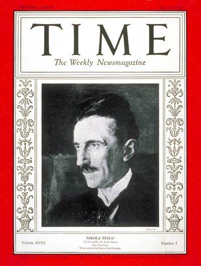 Nikola Tesla na okładce magazynu Time, 1931 rok