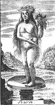 Żywia była słowiańską boginią przechadzającą się po ziemi i pozostawiającą po sobie urodzaj.