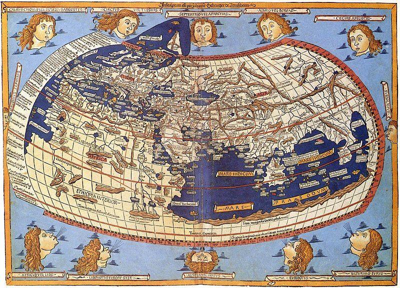 Mapa Johannesa Schnitzera z 1482 roku według Klaudiusza Ptolemeusza, widoczne terytorium określone jako Sarmatia Europe