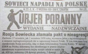 Kurier Poznański o agresji ZSRR na Polskę