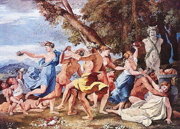 Kult Dionizosa boga wina i natchnienia od początku miał charakter orgiastyczny, z czasem złagodzony