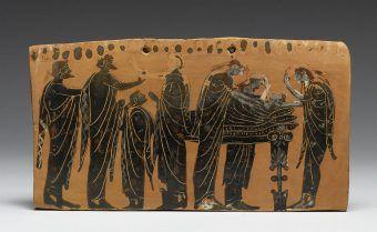 Scena pogrzebowa: zmarły otoczony członkami rodziny, VI w. p.n.e.