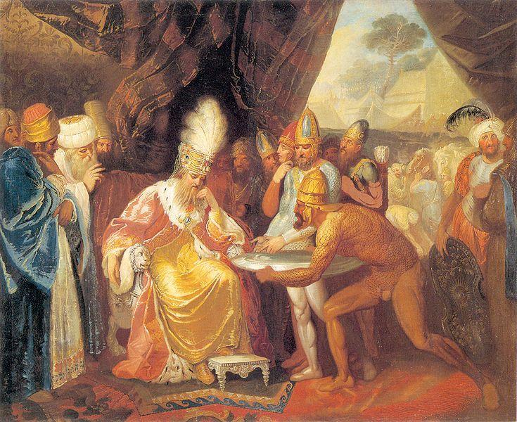 Posłowie scytyjscy przed Dariuszem