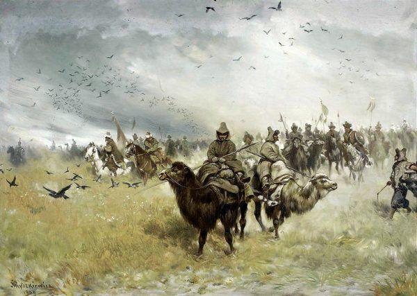 Tatarzy w straży przedniej armii tureckiej.