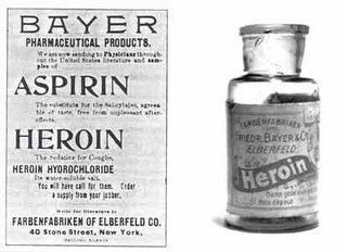 Reklama heroiny firmy Bayer