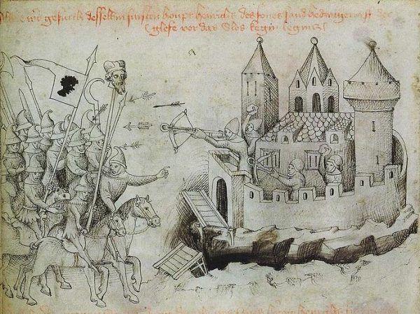 Oblężenie średniowiecznego zamku