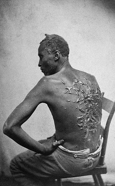 Niewolnik, który padł ofiarą biczowania