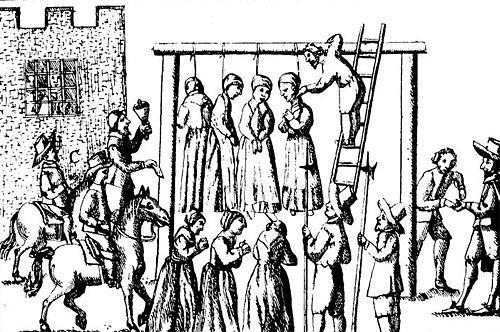 Egzekucja kobiet posądzonych o czary