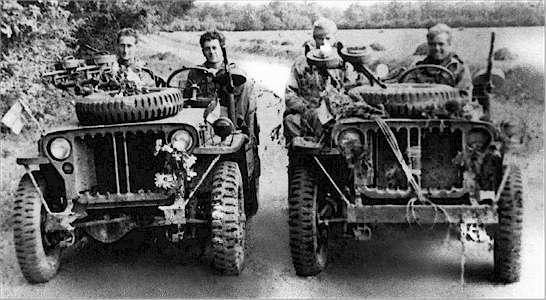 "Komandosi Mjra Frasera podczas operacji we Francji (operacja ""Houndsworth"")"