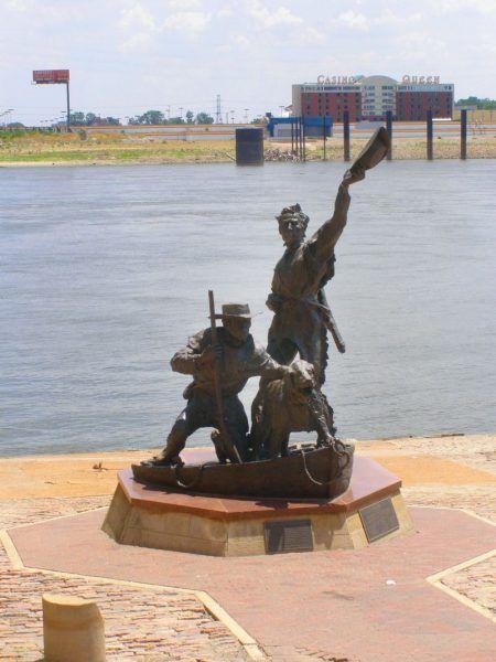 Pomnik Lewisa i Clark nad Mississippi w St. Louis.