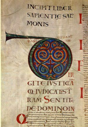 Manuskrypt jest bardzo bogaty w iluminacje