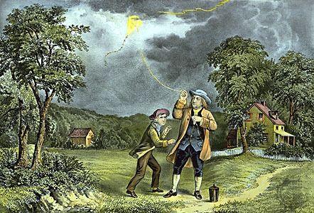 Benjamin Franklin doświadczenie z latawcem