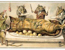 Kiedy wydaje Wam się, że widzieliście wszystkie najdziwniejsze świąteczne kartki z pomocą przychodzi epoka wiktoriańska