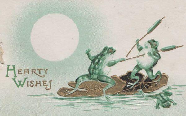 Duch świąt na wiktoriańskiej pocztówce