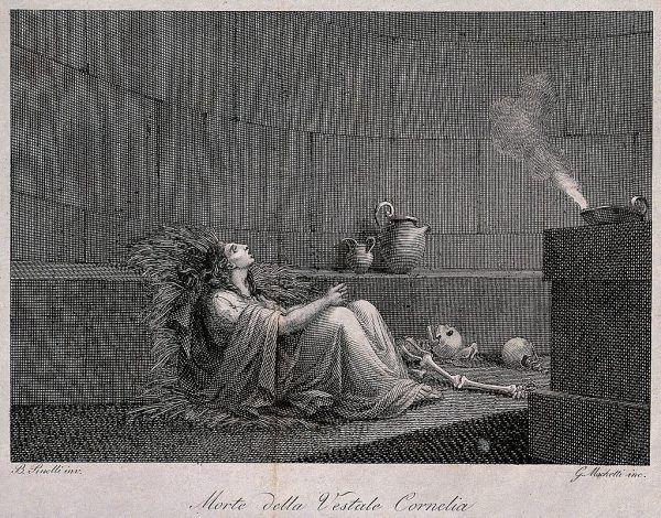 Przełożona westalek Kornelia została skazana na pogrzebanie żywcem