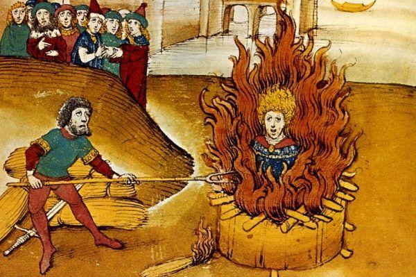 Spalenie na stosie było dość popularną karą