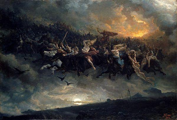 Peter Nicolai Arbo: Åsgårdsreien (1872)