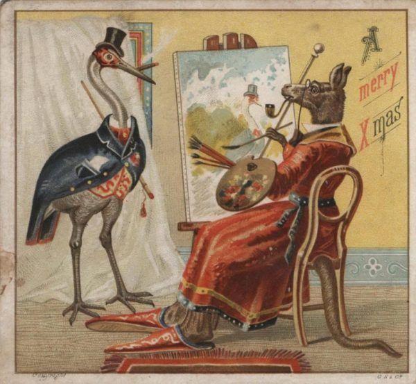 Jedna z pierwszych australijskich kartek świątecznych