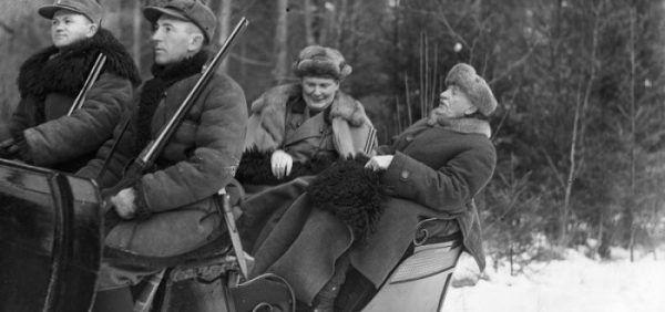 Hermann Göring w czasie polowania w Białowieży