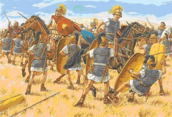 Cezar rozgromił Pompejusza w bitwie pod Farsalos