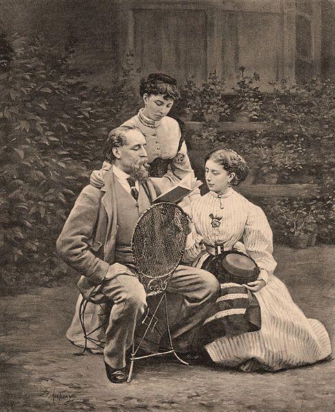 Karol Dickens z córkami