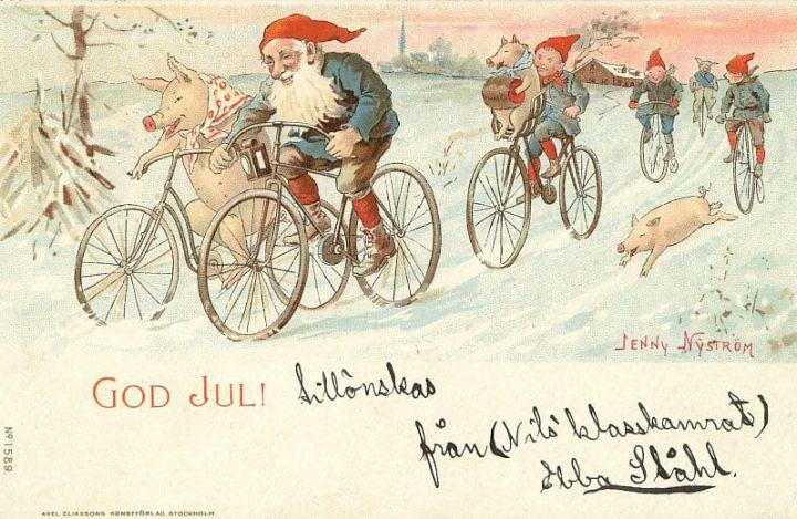 Krasnoludki i prosiaczki spieszą się na Święta