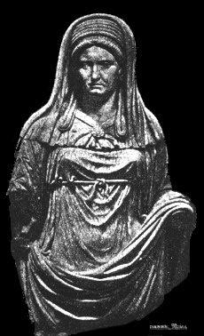 Strój westalek odzwierciedlał ich wieloraką rolę w społeczeństwie: matrony, panny młodej i dziewicy